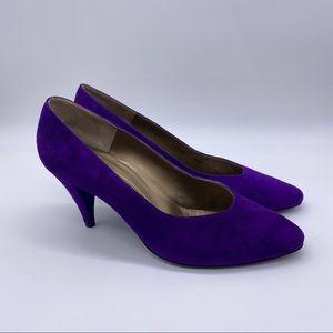 Vintage Bruno Magli Purple Suede Pumps